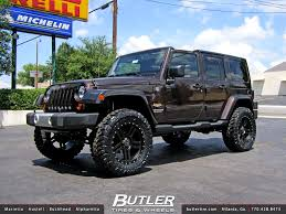 black and jeep rims jeep wrangler with 20in black rhino mojave wheels a photo on