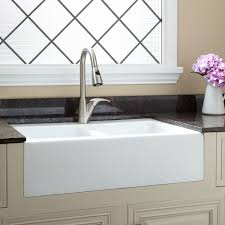 country kitchen sink ideas white color top mount farmhouse kitchen sink on black marble