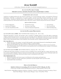 Sample Resumes For Accounting by Download Account Payable Clerk Sample Resume