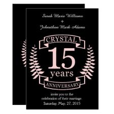 15 year wedding anniversary cards invitations greeting photo