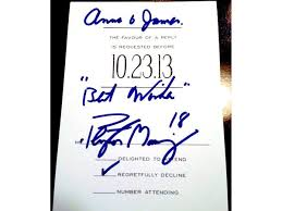 wedding wishes reddit wedding invitation to peyton manning sent back with autograph from