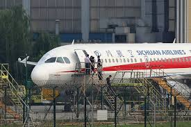 airbus si e social this photo taken on may 14 2018 shows employees checking a sichuan