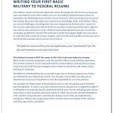 Military Experience Resume Federal Resume Haadyaooverbayresort Com