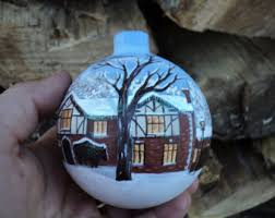 custom painted ornament painted with your own home