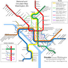 Metro Line Map by Combine The Circulator And Metro Maps For Visitors U2013 Greater
