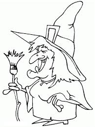 witch halloween coloring pages witch costume happy halloween