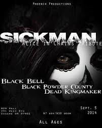 black friday eugene oregon sickman alice in chains tribute black bell black powder