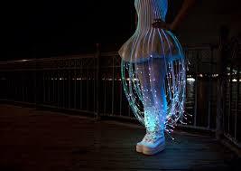 jellyfish dress glow in the dress sparkles with fiber optics