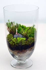 Home Decor Gifts Moss Terrarium Little People Headstand Apothecary Jar