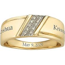 gold wedding rings for men namesake men s diamond forever personalized wedding band walmart