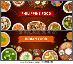 web cuisine philippine indian cuisine food national เวกเตอร สต อก