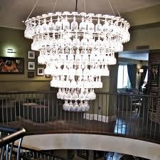 glasklasen wine glass cluster chandelier by bjorn stillefors