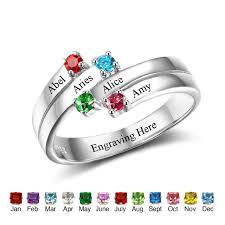 custom rings images Personalized family ring 925 sterling silver engrave names 4 jpg