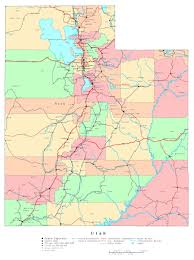 Large Map Of United States by Large Detailed Administrative Map Of Utah State With Roads
