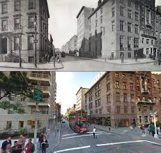 fifth avenue then and now a century of streetviews in new york
