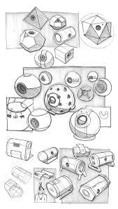 camera industrial design sketch collage drawings jpg 1500 2647