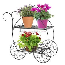 bicycle flower pot stands yard decorative plant metal wedding
