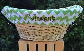 personalized basket deluxe laundry basket liners for or boys baby showers