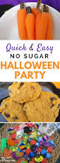 easy healthy halloween party plan with no sugar