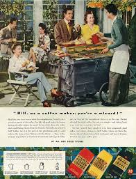 wwii a u0026p coffee ad backyard bbq party