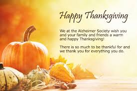 happy thanksgiving alzheimer society