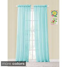 shop for vcny colette rod pocket sheer curtain panel pair free Turquoise Sheer Curtains