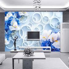 Schlafzimmer Blau Gr Online Shop 3d Abstrakte Kreis Fototapete Blaue Blume