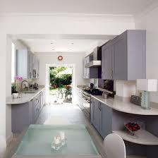 corridor kitchen design ideas galley kitchen design ideas housetohomecouk galley kitchen