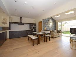 contemporary kitchen open plan kitchen dining living room
