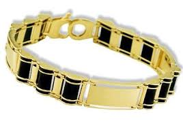 gold onyx bracelet images Mens 14k yellow gold black onyx engraved id bracelet jpg