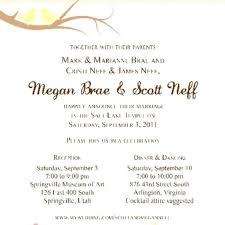 lds wedding invitation wording dancemomsinfo com
