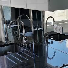 credence cuisine miroir crédence de cuisine en miroir sur mesure cuisine
