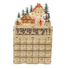 wood advent calendar jeco inc wooden advent calendar with lights reviews wayfair