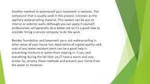 best waterproofing solutions for your home the best way to be