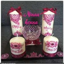 bougie hennã mariage ninaa henna henna décorations bougies baptême mariage lyon