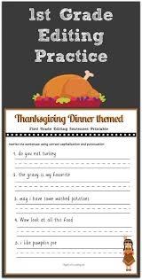 thanksgiving 1st grade editing printable thanksgiving and sentences