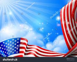 Design Of American Flag American Flag Design Against Sky Clouds Stock Vektorgrafik