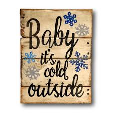 amazon com baby it u0027s cold outside sign rustic christmas decor
