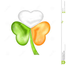 shamrock in irish flag color for saint patrick day stock