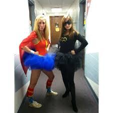 Halloween Costume Woman Friend Wonderwoman Batgirl Halloween