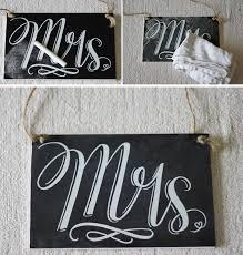 Mr And Mrs Wedding Signs Mr U0027 And U0027mrs U0027 Chalkboard Style Wedding Signs By The Wedding Of My