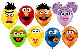 sesame street printable faces birthday balloons elmo abby ernie