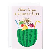 birthday girl buy the cheers to you birthday girl card utility design uk