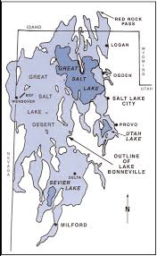Utah Map Usa by Great Salt Lake Lake Bonneville U0026 Bear Lake U2013 Utah Geological Survey