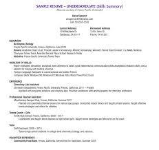 ideas of sample college resume high senior on cover letter