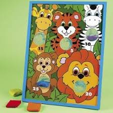 jungle animal character bean bag toss game board with netted