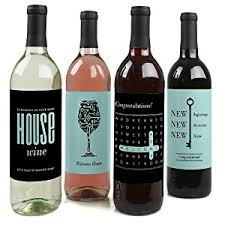 wine sler gift set home sweet home wine bottle labels housewarming