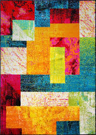 Modern Colorful Rugs Modern Rug Contemporary Area Rugs Geometric Swirls Lines Abstract