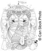 clipart vector elephant mouse coloring book