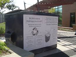 Garbage Collection Kitchener The World Through A Trash Receptacle August 2012